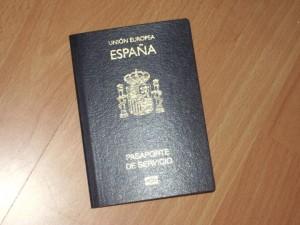 Pasaporte español de servicios